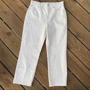 NWT! Madewell - Classic Straight Jean, Tile White